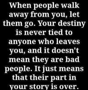 People walk away